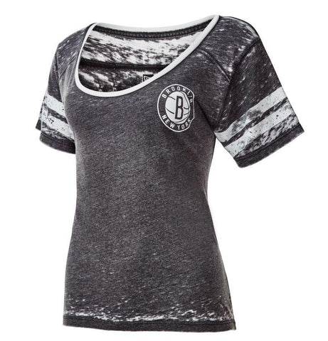 Women's Distressed Scoop Neck Tee - NetsStore.com
