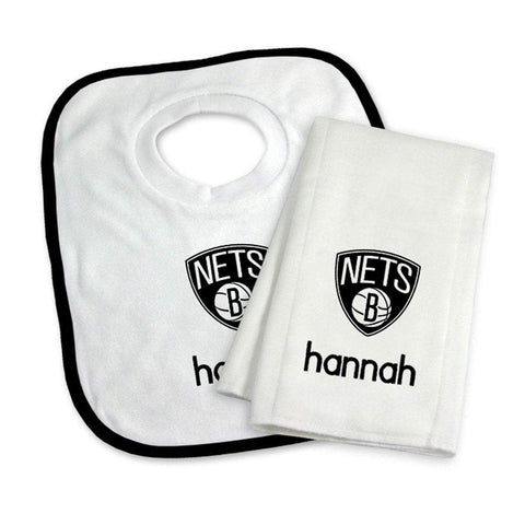 Personalized Bib and Burp Cloth Set - NetsStore.com