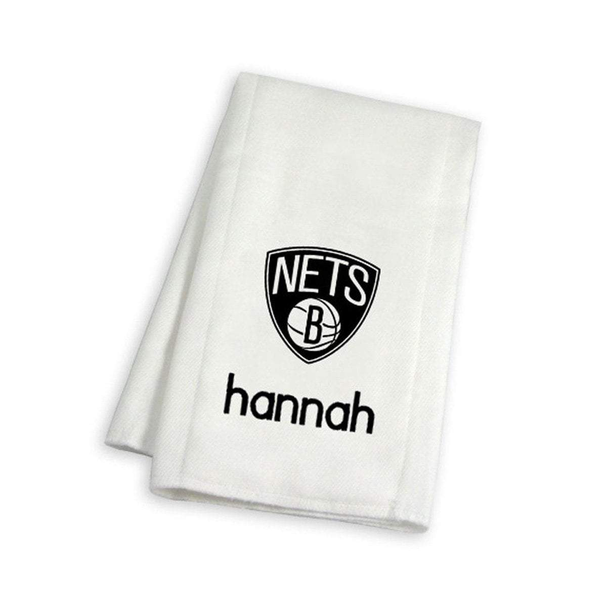 Chad & Jake Accessories Brooklyn Nets Personalized Burp Cloth by Chad & Jake