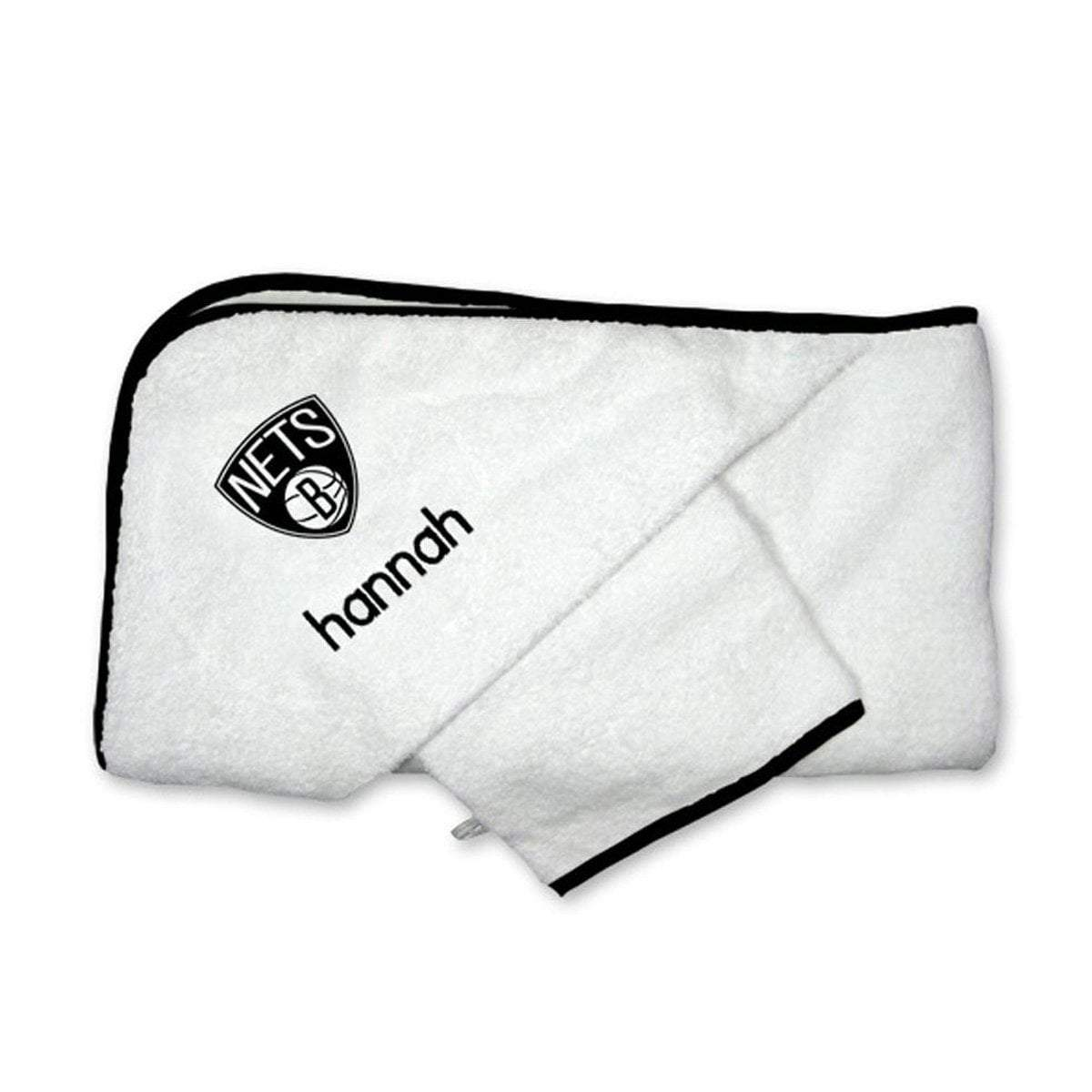 Chad & Jake Accessories Brooklyn Nets Personalized Hooded Towel Set by Chad & Jake