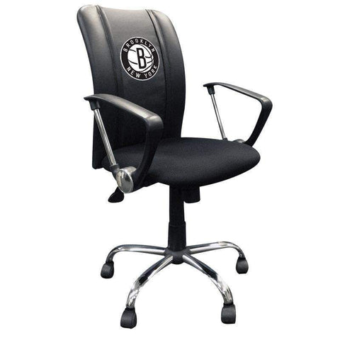 Brooklyn Nets Logo Curve Task Chair - NetsStore.com