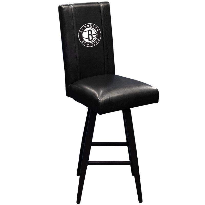 Brooklyn Nets Logo Swivel Bar Stool - NetsStore.com