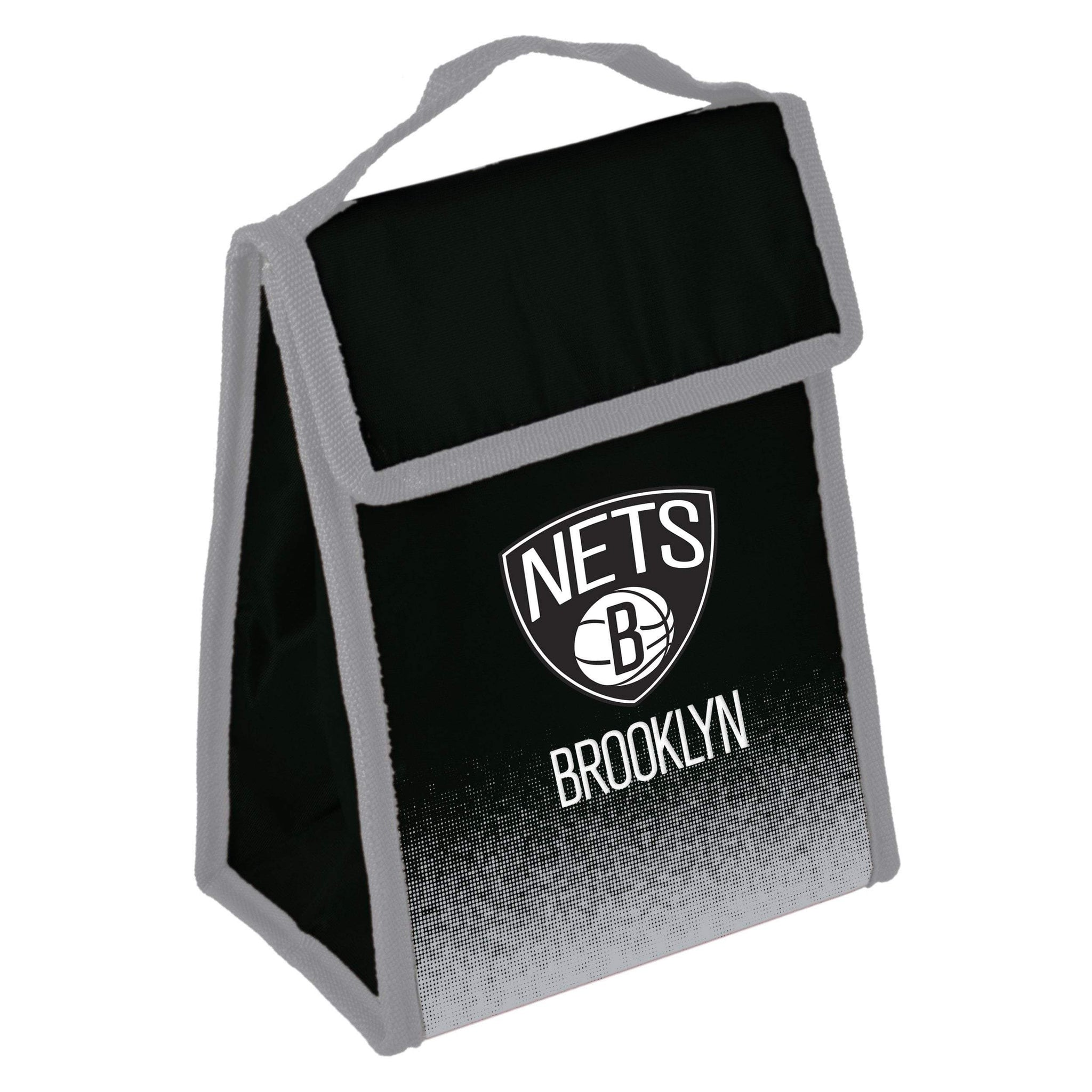 Brooklyn Nets Forever Collectibles Lunch Box Cooler Bag - Black/Grey - NetsStore.com