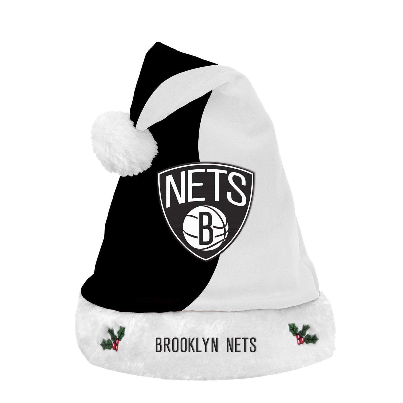 Forever Collectibles Hats OSFA Brooklyn Nets Forever Collectibles Santa Hat