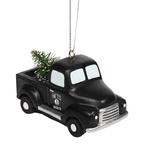 Forever Collectibles Ornaments BLACK Brooklyn Nets Forever Collectibles Truck Holiday Ornament