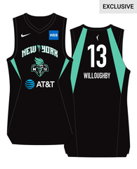 New York Liberty Jocelyn Willoughby #13 Adult Nike Swingman Jersey - NetsStore.com