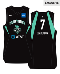 New York Liberty Layshia Clarendon #7 Adult Nike Swingman Jersey - NetsStore.com