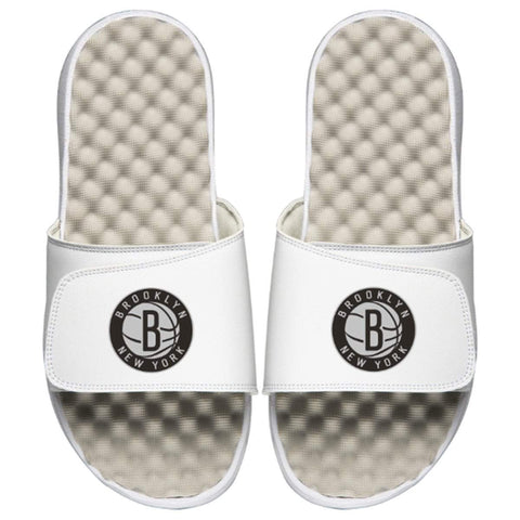 ISlide Footwear Size-5 Brooklyn Nets ISlide Secondary Logo Slides - White