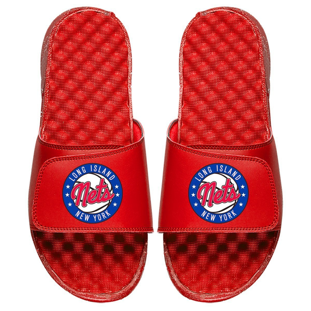 ISlide Footwear Size-3 Long Island Nets ISlide Primary Logo Slides - Red