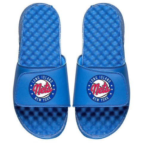 ISlide Footwear Size-3 Long Island Nets ISlide Primary Logo Slides - Royal