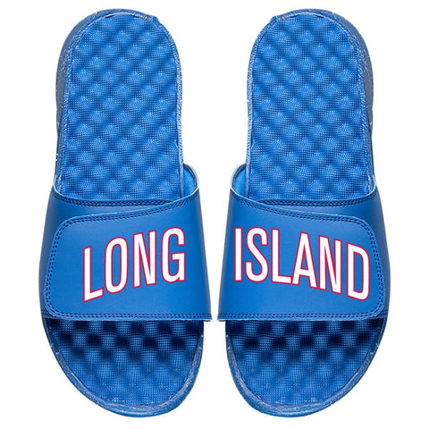 ISlide Footwear Size-3 Long Island Nets ISlide Wordmark Slides - Royal