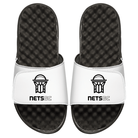 ISlide Footwear White / Size-3 Nets GC ISlide Alternate Logo Slides - White