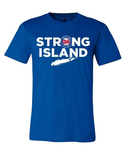 Item of the Game Tees RYL / L Long Island Nets 'Strong Island' Logo Tee - Blue