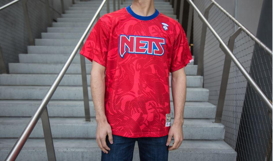 Brooklyn Nets AAPE by A Bathing Ape x Mitchell and Ness Practice Jersey - NetsStore.com