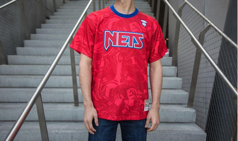 Brooklyn Nets AAPE by A Bathing Ape x Mitchell and Ness Practice Jersey