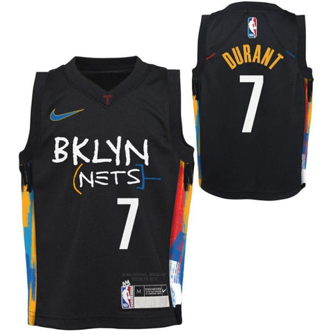 Kevin Durant #7 20-21 City Edition Kids Replica Jersey - NetsStore.com