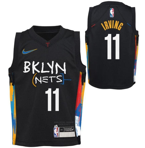 Preorder: Kyrie Irving #11 20-21 City Edition Kids  Replica Jersey - NetsStore.com