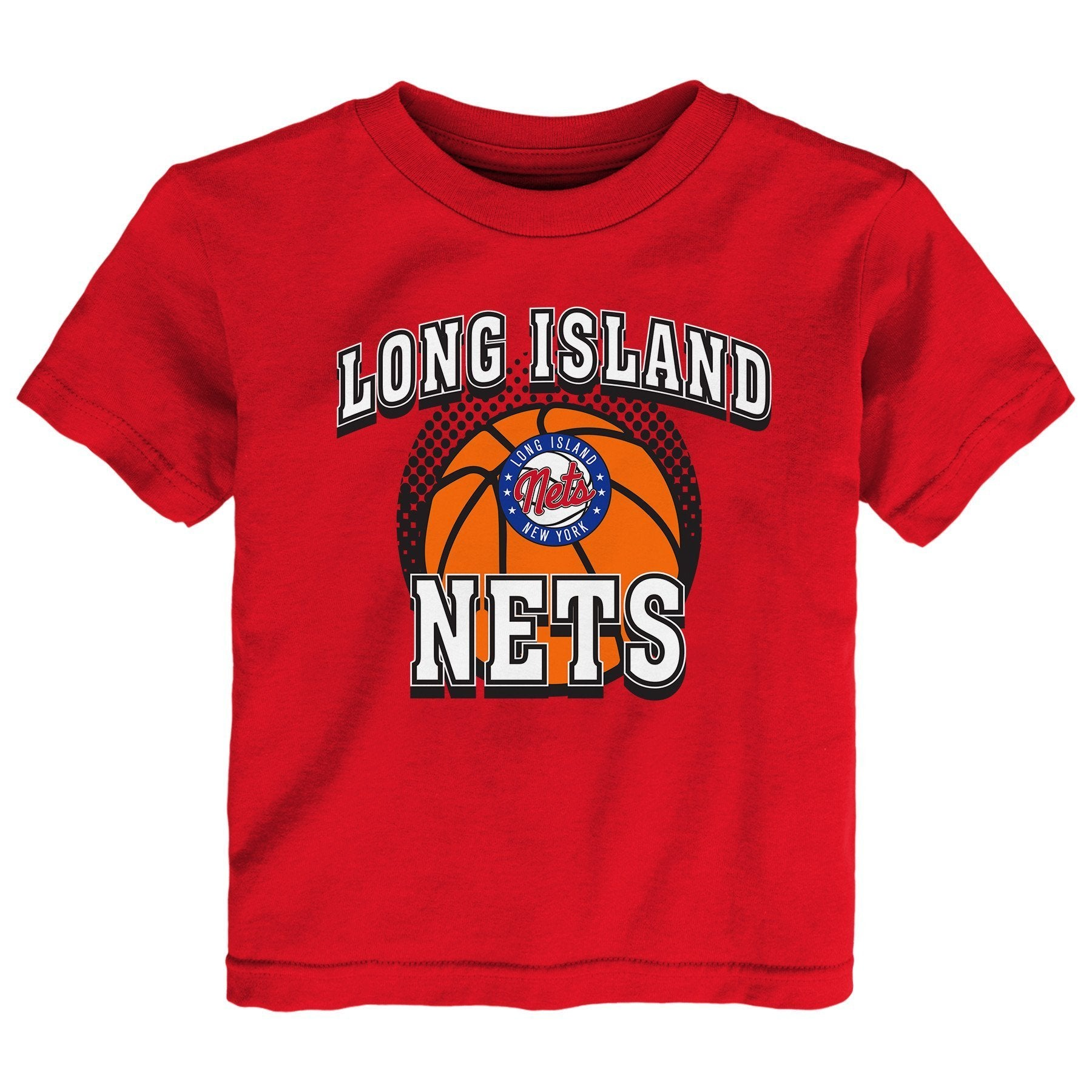 Long Island Nets Toddler Primary Logo Tee - Red - NetsStore.com
