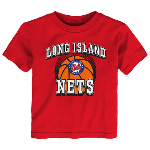 Toddler Long Island Nets Primary Logo Tee - Red - NetsStore.com