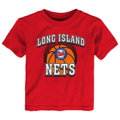 Long Island Nets Tees RED / 2T Toddler Long Island Nets Primary Logo Tee - Red