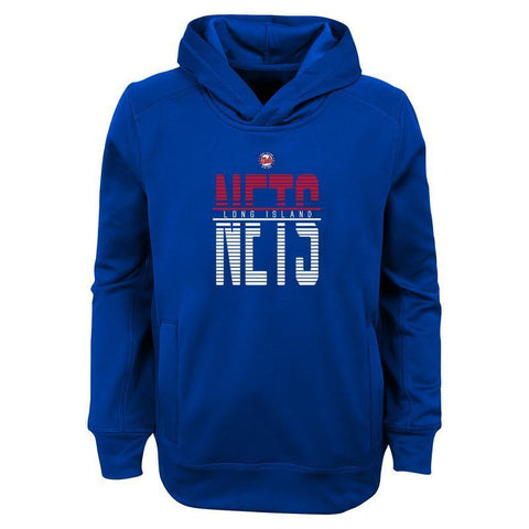 Long Island Nets Sweat RYL / S Youth Long Island Nets Split Line Logo Hood - Blue