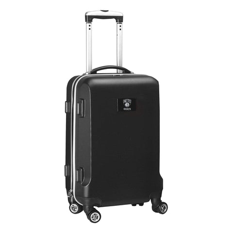 "Mojo-Denco Luggage Brooklyn Nets Denco 20"" Hardcase Luggage Carry-on Spinner - Black"
