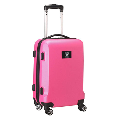 "Mojo-Denco Luggage Brooklyn Nets Denco 20"" Hardcase Luggage Carry-on Spinner - Pink"
