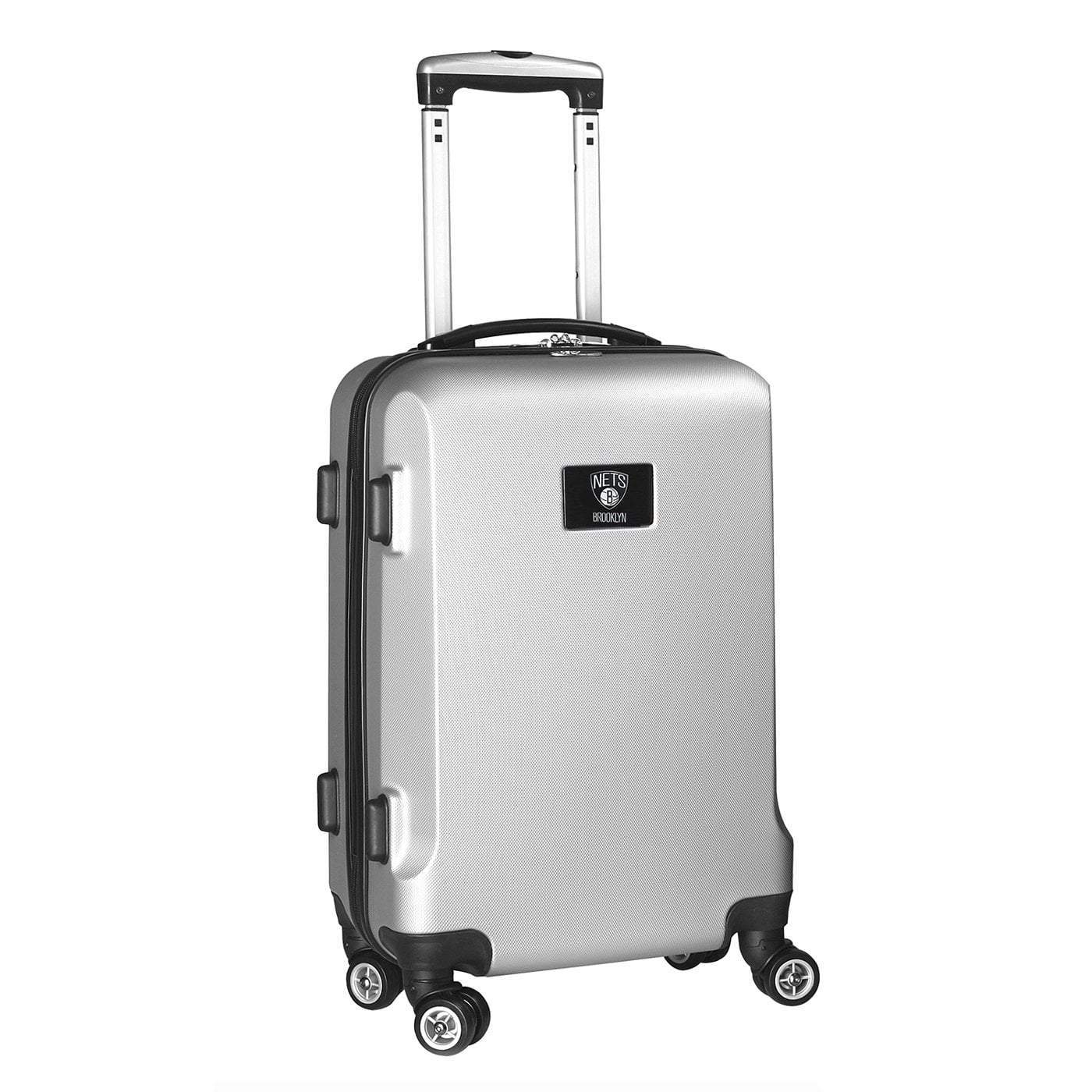 "Mojo-Denco Luggage Brooklyn Nets Denco 20"" Hardcase Luggage Carry-on Spinner - Silver"