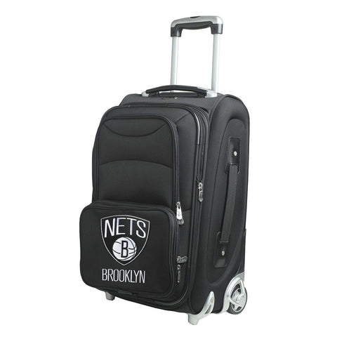 "Mojo-Denco Luggage Brooklyn Nets Denco 20"" Softsided Luggage Carry-on Rolling - Black"