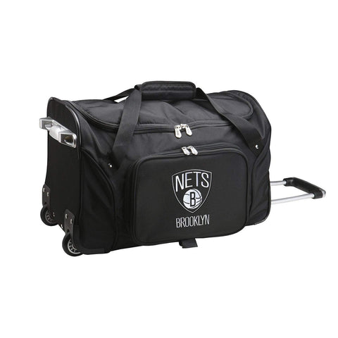 "Brooklyn Nets 22"" Rolling Bottom Duffel - NetsStore.com"