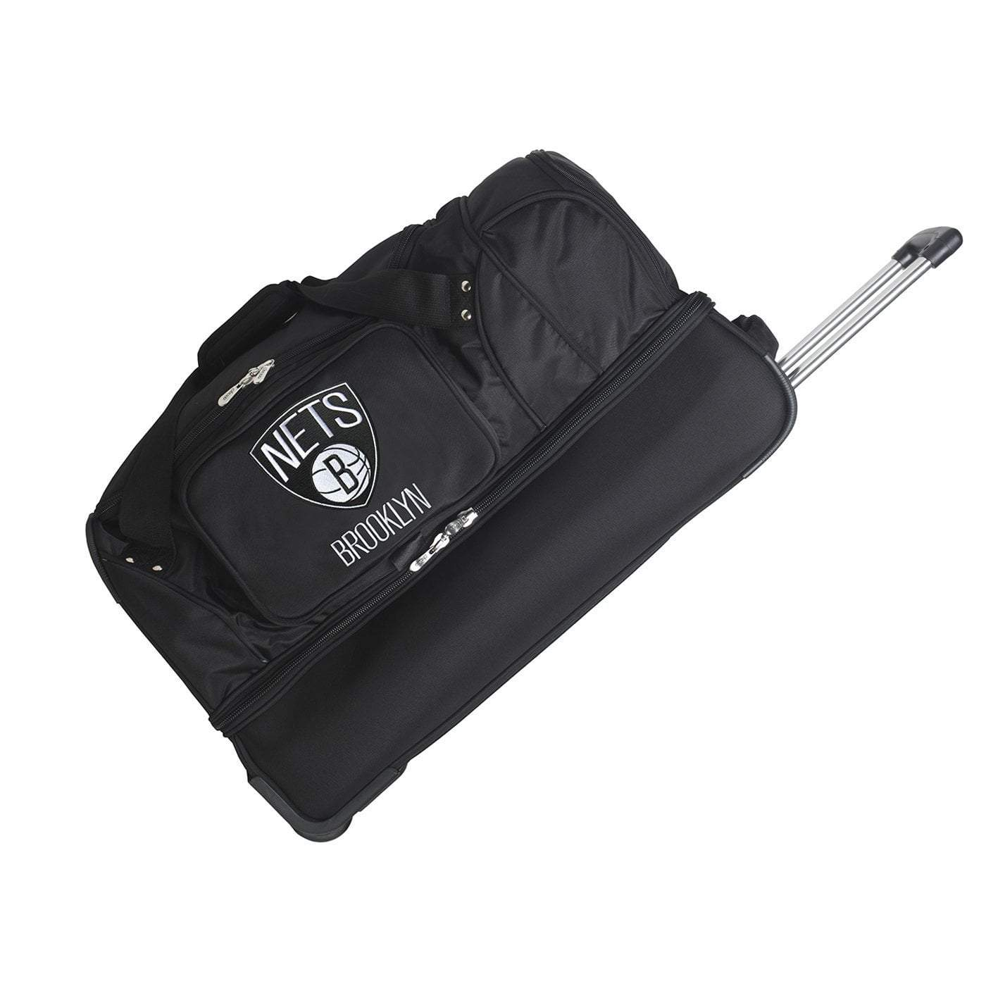 "Mojo-Denco Luggage Brooklyn Nets Denco 27"" Rolling Bottom Duffel - Black"