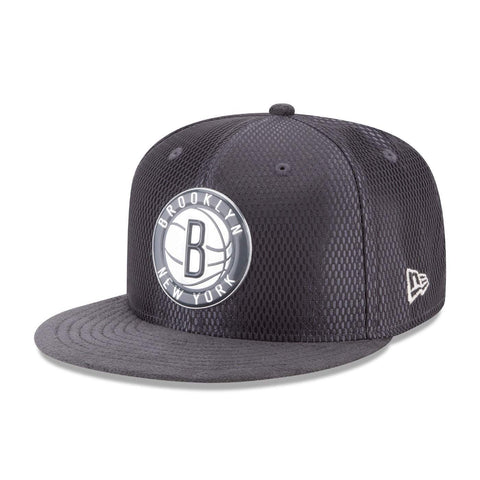 New Era Hats GREY / SNAP Brooklyn Nets New Era 9fifty Graphite On Court Snapback