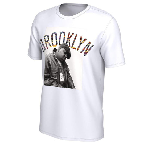 Brooklyn Nets Nike Music Collection Biggie Graphic Tee - White - NetsStore.com