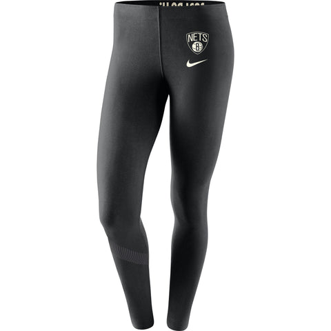 Brooklyn Nets Womens Nike Leg-A-See Leggings - Black - NetsStore.com