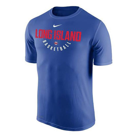 Nike Tees RYL / S Long Island Nets Nike Dri-Fit Men'S Primary Logo Tee - Blue
