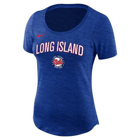 Nike Tees RYL / S Long Island Nets Nike Dri-Fit Women'S Logo Tee - Blue