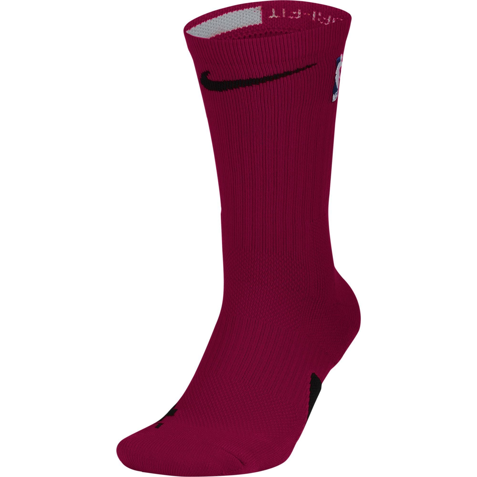 Nike Elite On Court Crew Sock - Red - NetsStore.com