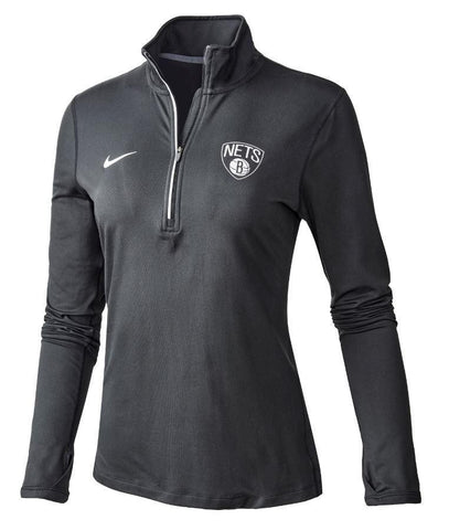 Brooklyn Nets Women's Nike Element 1/4 Zip Pullover - NetsStore.com