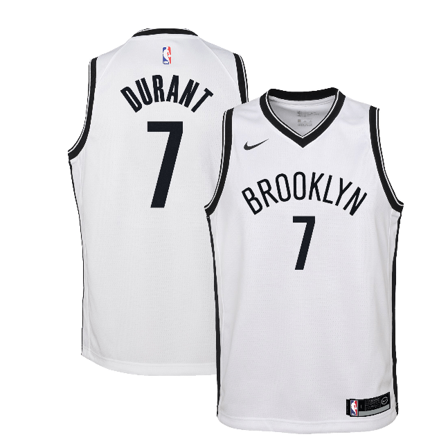 Brooklyn Nets Kevin Durant Youth Nike Association Swingman Jersey - NetsStore.com