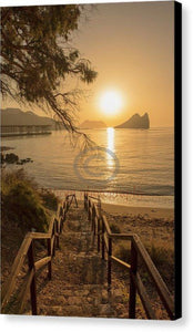 Access To A Beach In Aguilas In Murcia At Dawn - Canvas Print