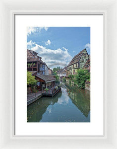 The Village Of Colmar In France - Framed Print 9.375 X 14.000 / White