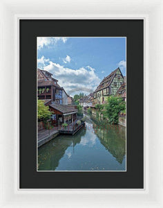 The Village Of Colmar In France - Framed Print 9.375 X 14.000 / White Black