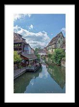 Load image into Gallery viewer, The Village Of Colmar In France - Framed Print 10.625 X 16.000 / Black White