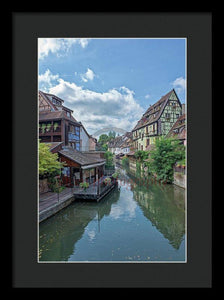 The Village Of Colmar In France - Framed Print 10.625 X 16.000 / Black