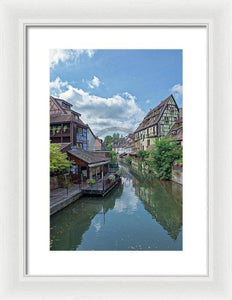 The Village Of Colmar In France - Framed Print 10.625 X 16.000 / White