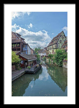 Load image into Gallery viewer, The Village Of Colmar In France - Framed Print 13.375 X 20.000 / Black White