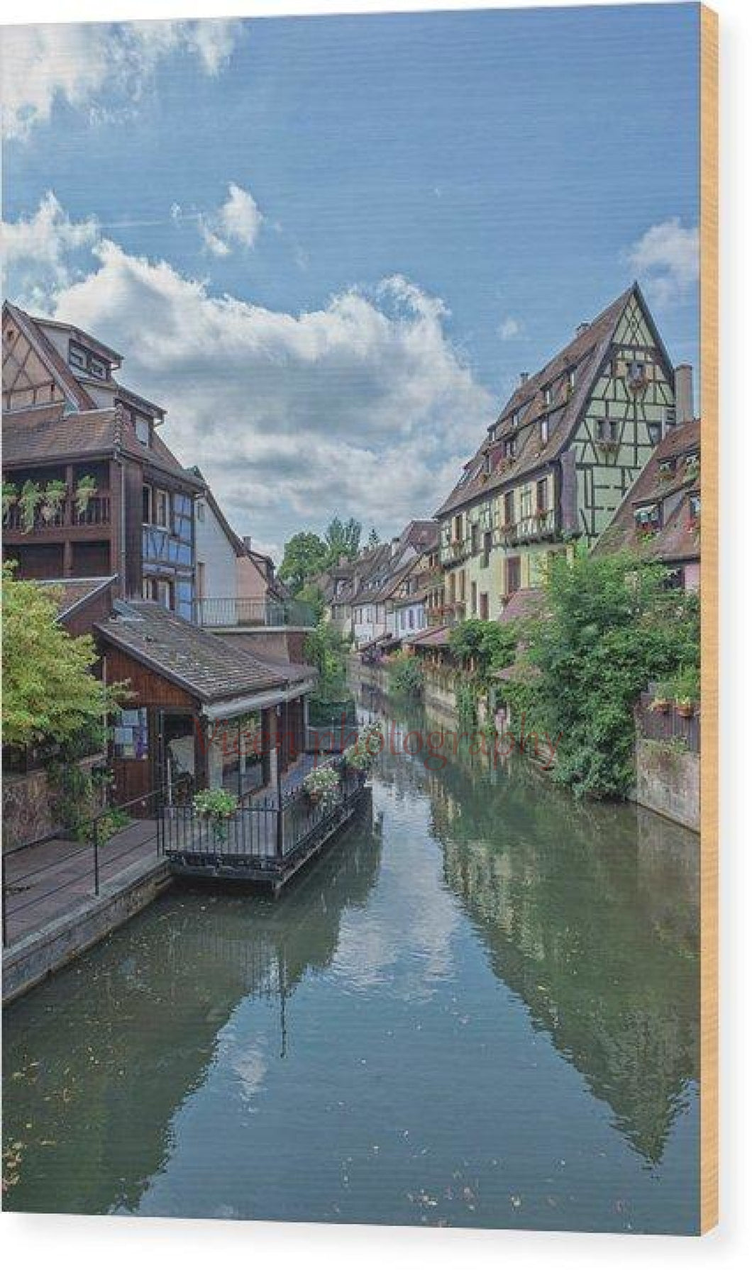 The Village Of Colmar In France - Wood Print 6.625 X 10.000