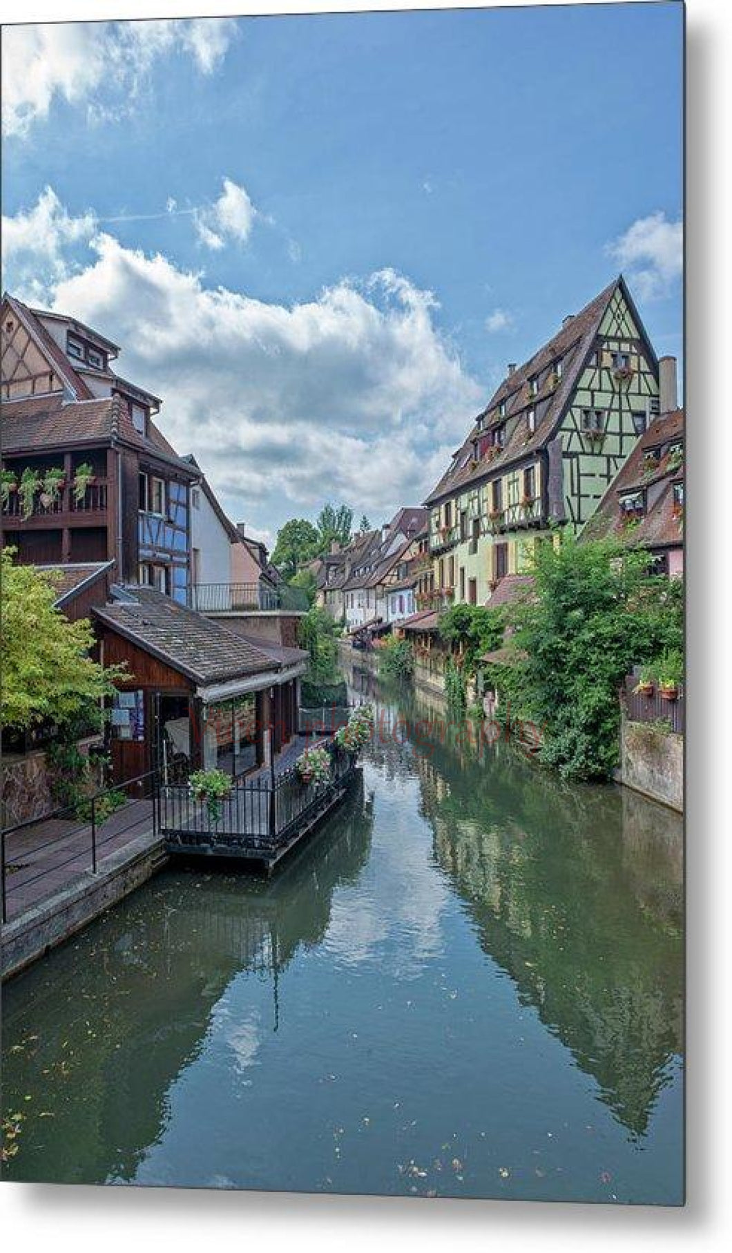 The Village Of Colmar In France - Metal Print 6.625 X 10.000