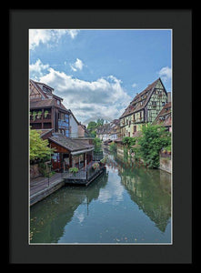 The Village Of Colmar In France - Framed Print 13.375 X 20.000 / Black