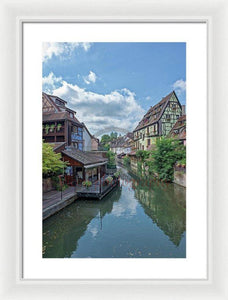 The Village Of Colmar In France - Framed Print 13.375 X 20.000 / White